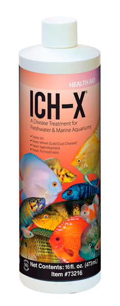 AQUARIUM SOLUTIONS & POND SOLUTIONS Ich-X Health Aid - Safer & More Effective Way To Treat Ich & Ich Related Conditions